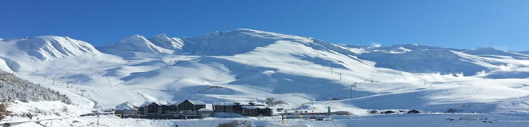 station de Peyragudes en hiver